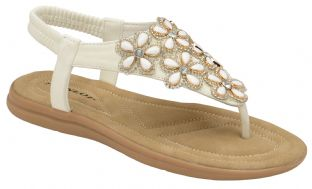 Dunlop DLP012 Womens Jaden White Sandals
